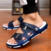 拖鞋男士涼鞋一字拖男新款韓版潮流時尚浴室內外穿兩用涼拖鞋防滑 京都3C