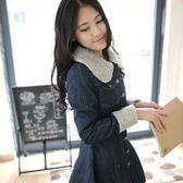 牛仔外套-有型簡單精緻女長版大衣5z49【巴黎精品】