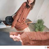 《DA6173》花紗紋理設計針織洋裝 OrangeBear