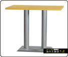 {{ 海中天休閒傢俱廣場 }} C-99 摩登時尚 餐廳系列 441-73 2X4尺美耐板餐桌/烤黑/烤銀腳(顏色可挑選)