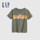 Gap男幼童 布萊納系列 純棉童趣圓領短袖T恤 681413-軍綠色