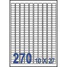 Unistar 裕德3合1電腦標籤紙 (22)US4343 270格 (20張/包)