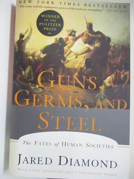 【書寶二手書T1/社會_KE2】Guns, Germs, and Steel: The Fates of Human Societies