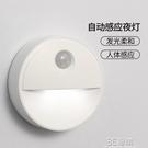 無線智慧人體感應燈小夜燈不插電光控家用過道起夜臥室LED燈 3C優購