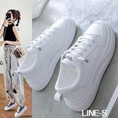 小白鞋女2020新款秋冬季百搭爆款網紅板鞋老爹鞋厚底增高運動白鞋