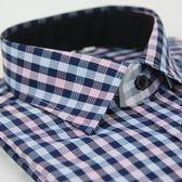 【金‧安德森】紫白格紋窄版長袖襯衫