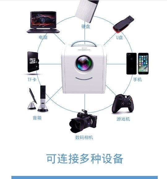【破天荒 保固二年】VEIDADZ 2019 高階投影機 1080P 迷你 家用 兒童 投影儀 便攜 露營