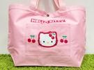 【震撼精品百貨】Hello Kitty 凱蒂貓~日本三麗鷗 KITTY手提包/收納袋-櫻桃粉#01662