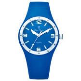 Olym Pianus奧柏表 真自我炫彩時尚運動腕錶-藍/38mm