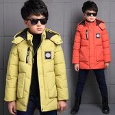 超低折扣NG商品~中大童外套 拉鍊式仿羽絨鋪棉連帽防風夾克大衣 FM15402 好娃娃