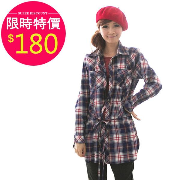 襯衫【1899】FEELNET中大尺碼女裝春裝格子長袖襯衫 42-44碼