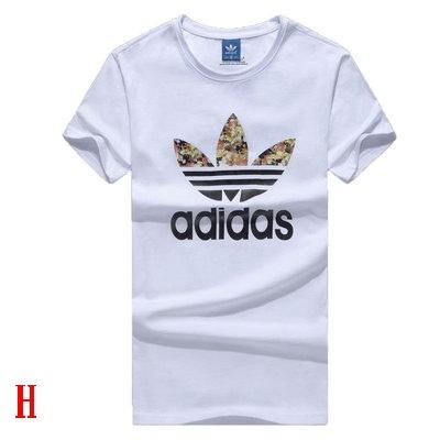 愛迪達ADIDAS三葉草 新款夏季純棉短袖T桖 印花大logo黑色白色藍色男女運動上衣運動服運動褲/澤米