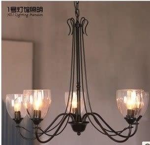 設計師美術精品館北歐簡約宜家美式鄉村風格復古鐵藝吊燈客廳燈餐廳燈臥室燈具