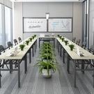 摺疊桌子擺攤美甲桌電腦長條桌培訓桌課桌簡易餐桌家用長方形書桌 夢幻小鎮