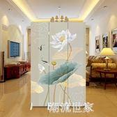 中式屏風隔斷時尚現代客廳行動簡約折疊臥室酒店玄關折屏小戶型MBS『潮流世家』