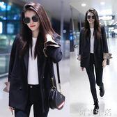 春夏新款韓版修身顯瘦長袖小西裝外套休閒時尚西服女 初語生活