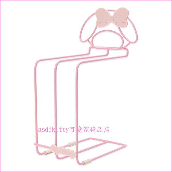 asdfkitty可愛家☆美樂蒂粉色毛巾架/抹布架/擦手巾架-可放3條-日本正版商品