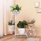 歐式新款鐵藝花架置物架家用落地式客廳綠蘿花盆架子多層室內花架 NMS名購居家