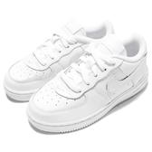 Nike 休閒鞋 Force 1 TD 白 全白 Air Force 童鞋 小童鞋 運動鞋【PUMP306】 314194-117
