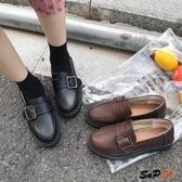 E家人 娃娃鞋 百搭 軟妹 日系 小皮鞋 原宿 學院風 復古 休閒