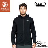 【Wildland 荒野 男 N66彈性透氣抗UV外套《黑》】0A81902/防曬夾克/防潑水薄外套/運動外套