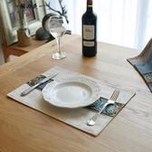 北歐簡約餐墊桌墊蓋布盤墊碗墊長方形布藝隔熱墊西餐墊防滑餐墊【櫻花本鋪】