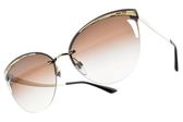 BVLGARI 太陽眼鏡 BG6110 278-13 (金-漸層棕鏡片) 蜂巢女王設計貓眼款 墨鏡 # 金橘眼鏡