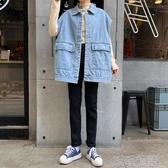 冬季2019新款韓版寬松百搭無袖背心加絨牛仔馬甲外套外穿女學生潮 喵喵物語