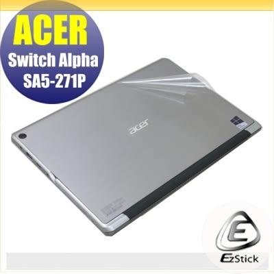【Ezstick】ACER Switch ALPHA 12 SA5-271 二代透氣機身保護貼(平板機身背貼)DIY包膜