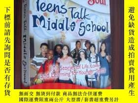 二手書博民逛書店Teens罕見talk middle school;101 st