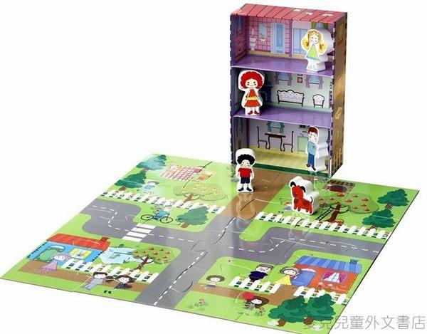 【我的夢想城鎮 My Little Village】我的家 MY HOME /內含故事書+拼圖+木質偶