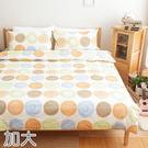 MIT精梳純棉斜紋布活性印染 雙人加大四件式兩用被床包-午茶。顏-綠