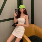 性感洋裝 吊帶連衣裙緊身性感顯瘦包臀裙女2020年新款夏季氣質收腰短款裙子【快速出貨】