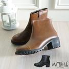 短靴 簡約鞋頭拼接短靴 MA女鞋 T18...