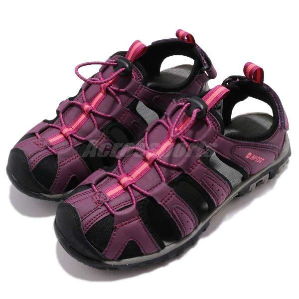 HI-TEC Cove Womens 紫 黑 護趾涼鞋 水陸兩棲 戶外 涼鞋 女鞋【PUMP306】 O006193090