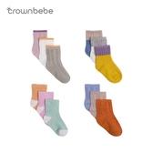 CROWNBEBE嬰兒襪子春夏0-1-3-5歲寶寶襪子短襪男女童春秋兒童襪子