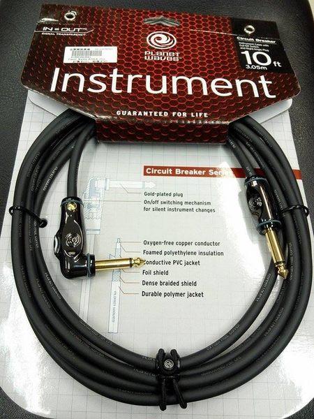 【金聲樂器廣場】Planet Waves circuit breaker 專業導線 10呎 L頭 (斷電開關)