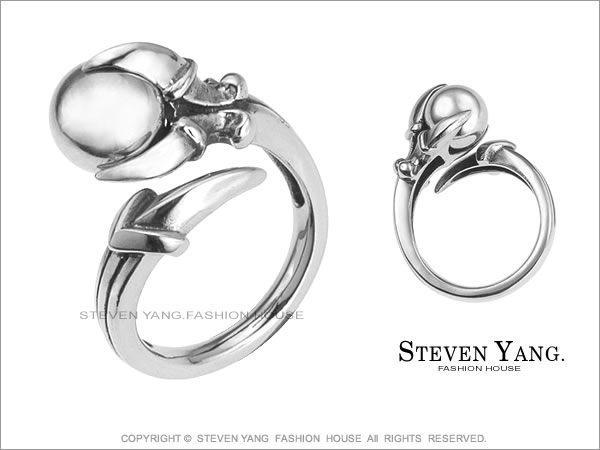 戒指STEVEN YANG白鋼飾 龍爪運球鋼戒 個性款  街頭風* 單個價格