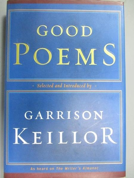 【書寶二手書T3/少年童書_G5B】Good Poems_Keillor, Garrison (EDT)