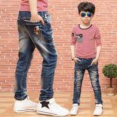 兒童牛仔褲春裝男孩休閒褲彈力小腳褲春秋款 韓版 免運