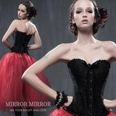 馬甲 螺旋鋼骨低調黑奢華塑身馬甲-束身、表演服_蜜桃洋房