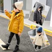 男童外套秋冬棉服加厚加絨2019新款韓版洋氣中大兒童短款連帽棉衣