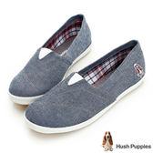 Hush Puppies 率性牛仔咖啡紗懶人鞋-灰藍