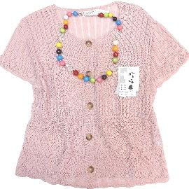 【波克貓哈日網】日系七分袖罩衫◇Brilliant◇《粉紅色》~日本製