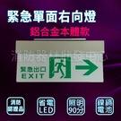 消防器材批發中心 仙暉緊急出口方向燈(右向) 鋁合金本體 SH-123CSR 3:1 逃生方向燈 消防署認證