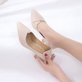 兩穿高跟鞋少女細跟2019新款春季韓版百搭尖頭小清新貓跟5cm單鞋