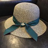 618好康鉅惠帽子女夏遮陽帽防曬女太陽帽草帽沙灘帽折疊