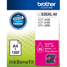 【享印科技】Brother LC535XL-M 原廠紅色墨水 適用 DCP-J100、DCP-J105、MFC-J200