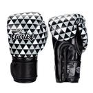 『VENUM旗艦館』Fairtex 8oz 新款圖案 健身房拳擊手套~重擊打沙袋拳套~個性化改裝-黑色菱鏡 BGV14