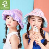 女款兒童沙灘 雙面波浪防曬遮陽帽Lemonkid 檸檬寶寶KQ17685
